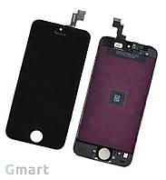 Дисплей APPLE IPHONE 5S + Сенсор (тачскрин) / Экран на Айфон 5S черный (LCD High Copy)