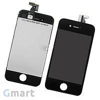 Дисплей iPhone 4S черный (LCD экран, тачскрин, стекло в сборе)