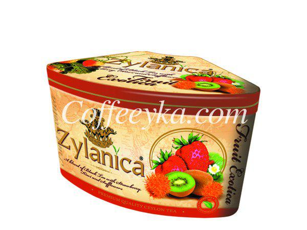Чай чёрный Zylanica Fruit Exotica Strawberry & Kiwi  ж/б 100г