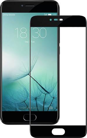 Защитное стекло Full Cover на Meizu Pro 7 plus Черное, фото 2