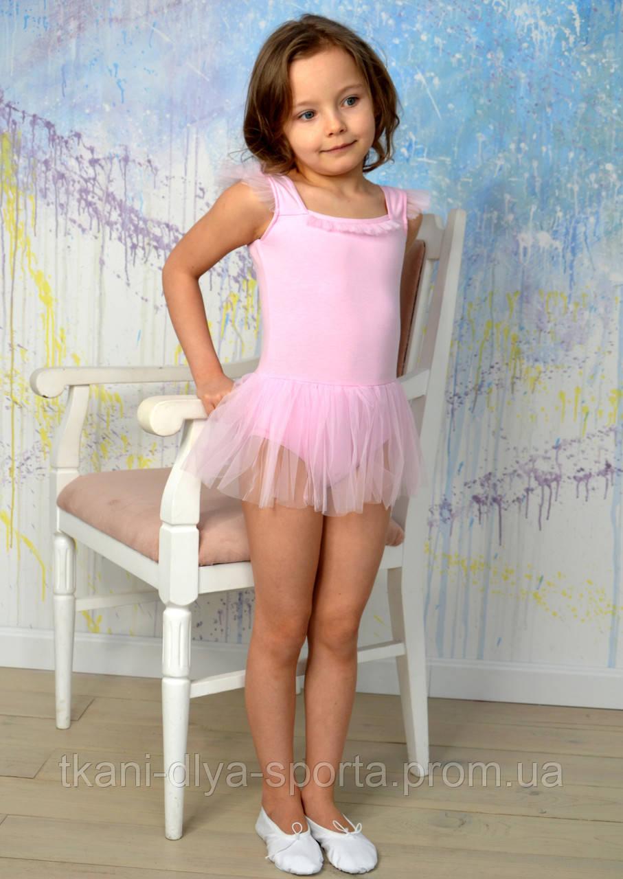Купальник с юбочкой для танцев и балета розовый