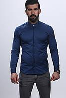 Мужская турецкая рубашка от производителя - 61-02-2018 (синий)