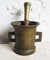 Ступка бронзовая с пестиком,старинная,коллекционная