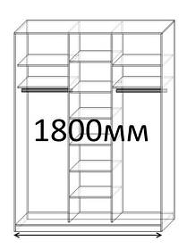 Шкафы купе 180 см