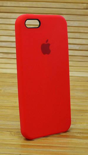 Силиконовый чехол на Айфон 5 \ 5s \ se Original Elite красный