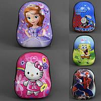 Рюкзак детский 5 видов, 1 отделение, плотная спинка /100/(555-97)