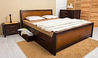 Кровать Сити с интарсией и ящиками  200*120 бук Олимп, фото 1