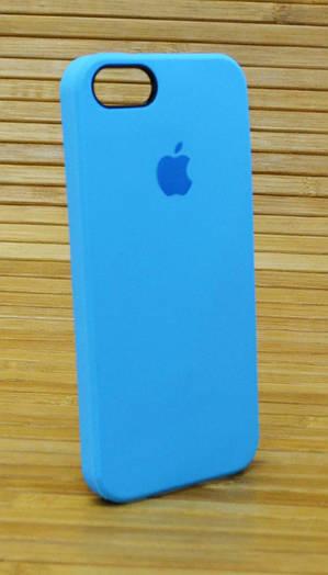 Силиконовый чехол на Айфон, iPhone 5 \ 5s \ se Original Elite голубой