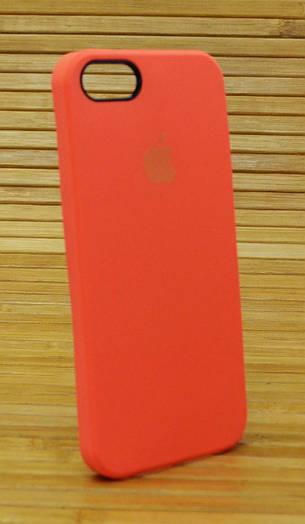 Силиконовый чехол на Айфон, iPhone 5 \ 5s \ se Original Elite оранжевый