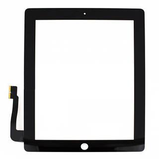 Сенсорный экран iPad 4 (тачскрин, стекло в сборе) черный НС