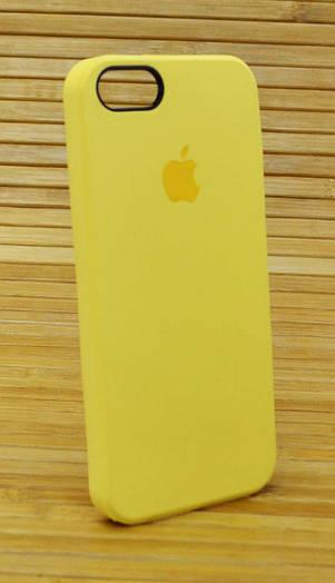 Силиконовый чехол на Айфон, iPhone 5 \ 5s \ se Original Elite жёлтый