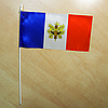 "Флажок ""Франция с гербом""   Флажки Европы  "