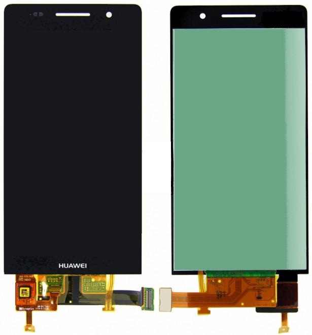 Дисплей Huawei Ascend P6 U06 черный (LCD экран, тачскрин, стекло в сборе),  Дисплей Huawei Ascend P6 U06