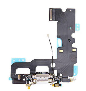 Оригинальный порт зарядки и синхронизации iPhone 7 белый со шлейфом и нижними микрофонами
