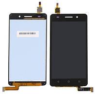 Дисплей Huawei Honor 4C черный (LCD экран, тачскрин, стекло в сборе)