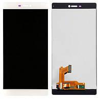 Дисплей Huawei Ascend P8 белый (LCD экран, тачскрин, стекло в сборе)