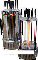 Электрошашлычница WIMPEX BBQ WX 8601 1000 W, Электрическая шашлычница, Шашлычница для дома 5 шампуров