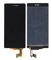 Дисплей Huawei Ascend P8 черный (LCD экран, тачскрин, стекло в сборе)