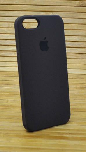 Силиконовый чехол на Айфон, iPhone 5 \ 5s  \ se Original Elite кофейный