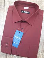 Мужская рубашка бордового цвета