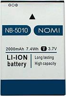 Оригинальный аккумулятор Nomi i5010 Evo M (2000mAh) NB-5010 (батарея, АКБ)