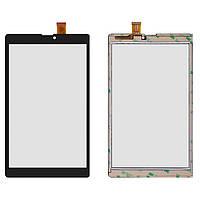 Оригинальный сенсорный экран Nomi C08000 Libra 8 3G черный (45 pin), DXP2J1-0891-080A-FPC (тачскрин, стекло в сборе)