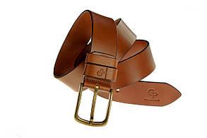 Кожаный ремень Classico Bronzo, коньяк