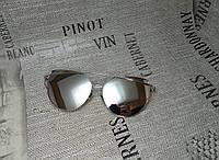 Солнцезащитные очки, цвет серый в серебристой оправе