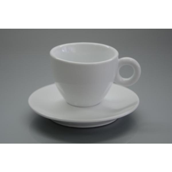 Чашка с блюдцем 150 мл. фарфоровая, белая Alt Porcelain