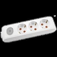 Колодка 3 гнезда с ЗК с кнопкой Viko Multi-Let, 90118300