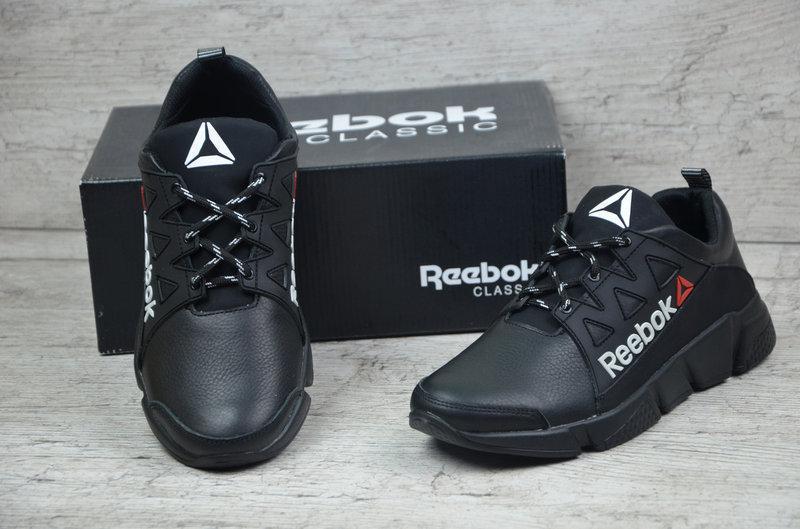 Мужские модные кожаные кроссовки Reebok model 707 черные  продажа ... f1450f5c40d