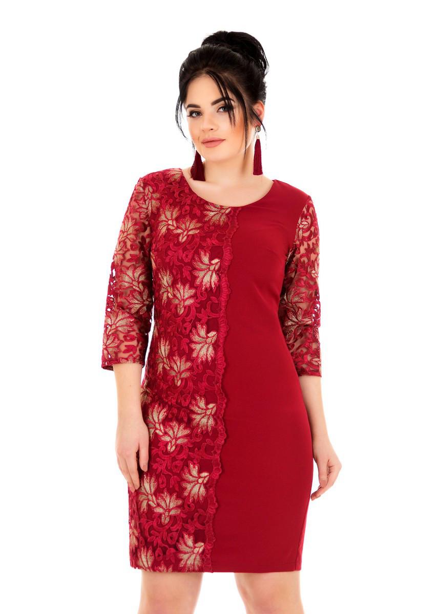 Платье с гипюром 50,52,54