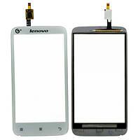 Оригинальный сенсорный экран Lenovo A398T белый (тачскрин, стекло в сборе)