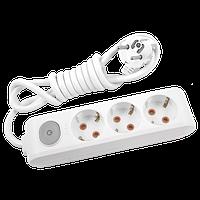 Удлинитель 3 гнезда 3м с заземлением с выключателем Viko Multi-Let арт. 90118303