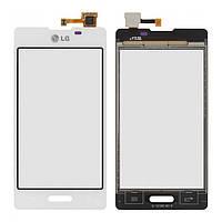 Сенсорный экран LG E460 Optimus L5 белый (тачскрин, стекло в сборе)