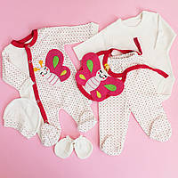 Одежда для новорожденных на выписку размер 0-3 мес