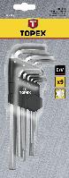 Набор шестигранных ключей 1.5-10мм, 9шт. Topex (35D956)