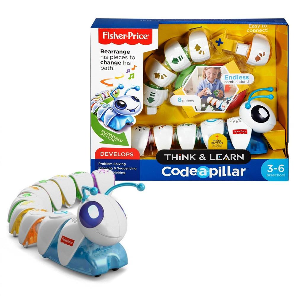 Интерактивная игрушка «Fisher-Price» (DKT39) гусениця Соединяй и запускай