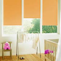 Рулонна  штора 425х1700 (тканинна ролетка) LAZUR Apricot  2071
