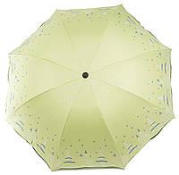 Жіночий симпатичний компактний міцний механічний парасольку YuYing art. 1727 ніжно-салатовий (102530), фото 1