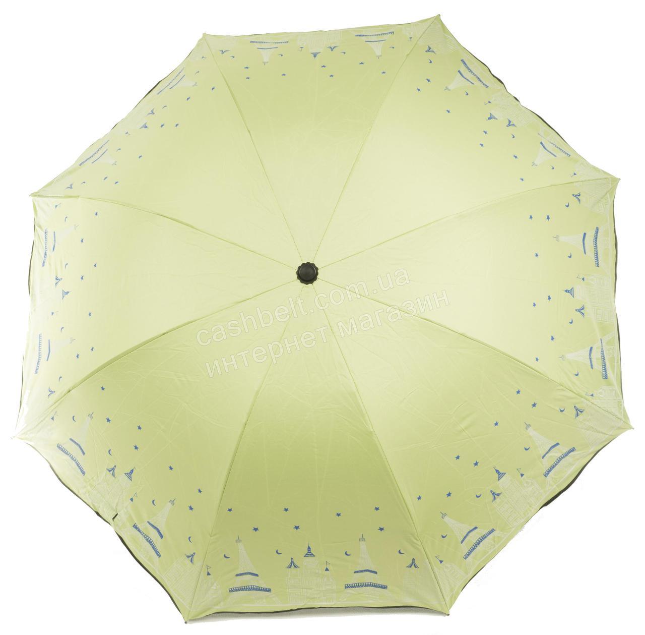 Жіночий симпатичний компактний міцний механічний парасольку YuYing art. 1727 ніжно-салатовий (102530)