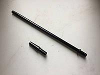 Рукоятка мундштук 30 см чёрная + коннектор