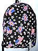 Женский черный рюкзак из текстиля Англия 30*42 см
