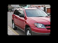 Mitsubishi Outlander (2001-2006) Ветровики (4 шт, HIC)