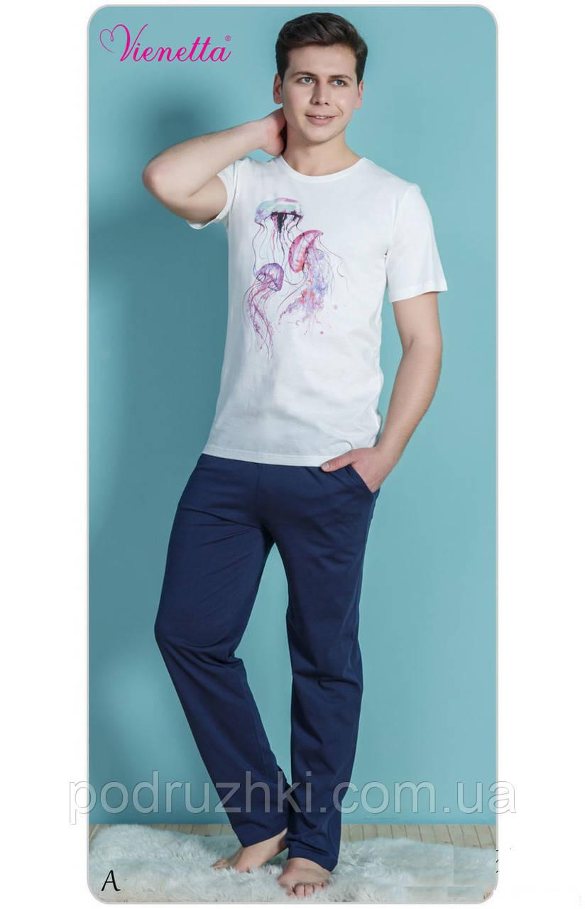 Домашний костюм мужской (пижама) брюки и футболка GAZZAZ