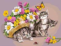 "Картина по номерам ""Котики в шляпе"" gx3069 (40*50 см)"