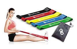 Лента эспандер для фитнеса набор 5 штук в чехле