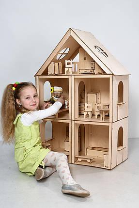 """Кукольный домик FANA """"Большой особняк для Барби"""" 5 комнат/3 этажа, фото 2"""