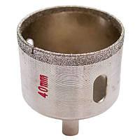 Сверло алмазное трубчатое по стеклу и керамике 40 мм INTERTOOL SD-0363