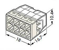 Самозажимная клемма WAGO  2273-208 COMPACT (без пасты), фото 2